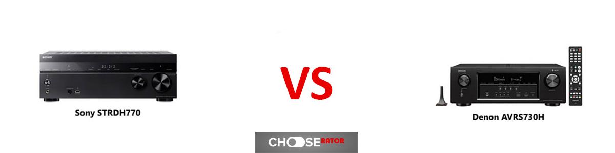Sony STRDH770 vs Denon AVRS730H