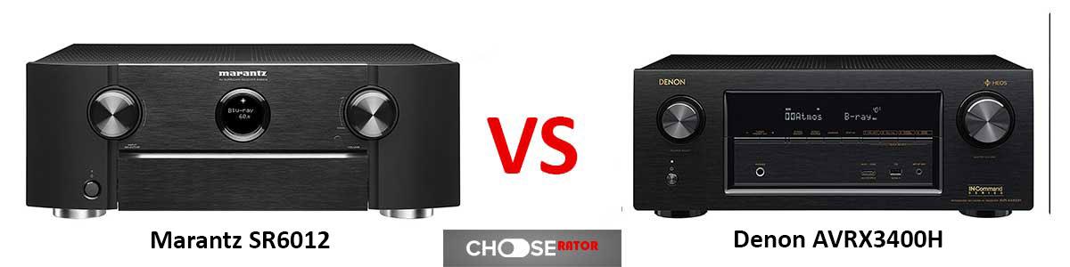 Marantz SR6012 vs Denon AVR-X3400H