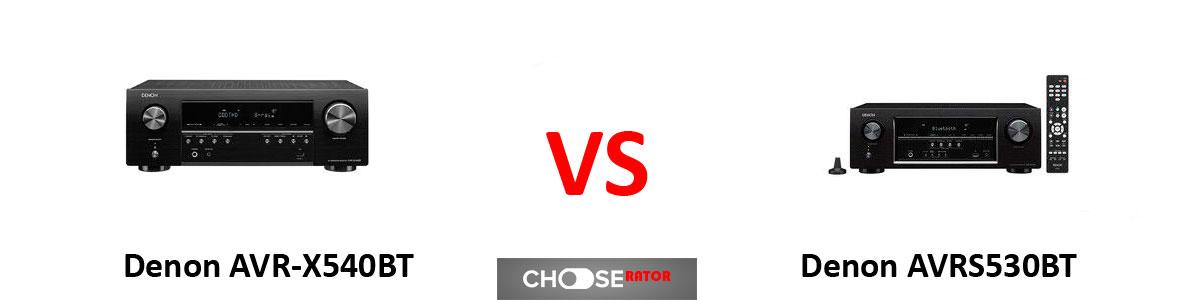 Denon AVR-X540BT vs Denon AVRS530BT