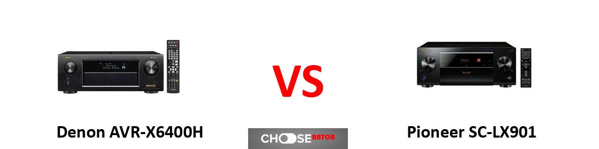 Denon AVR-X6400H vs Pioneer SC-LX901