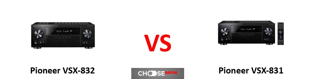 Pioneer VSX-832 vs Pioneer VSX-831