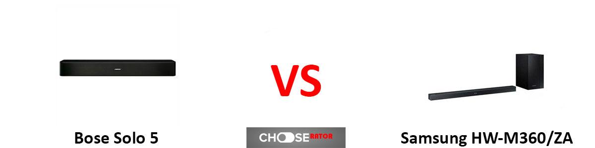 Samsung HW-M360/ZA vs Bose Solo 5