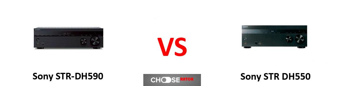 Sony STR-DH590 vs Sony STR DH550