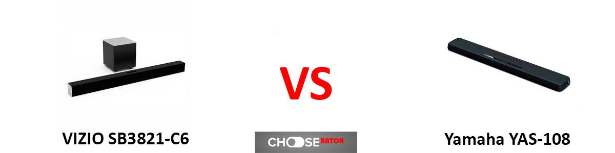 VIZIO SB3821-C6 vs Yamaha YAS-108