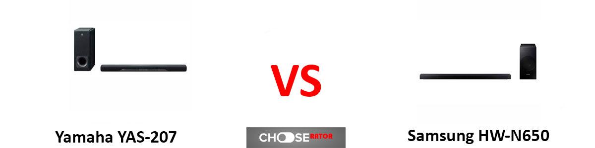 Yamaha YAS-207 vs Samsung HW-N650