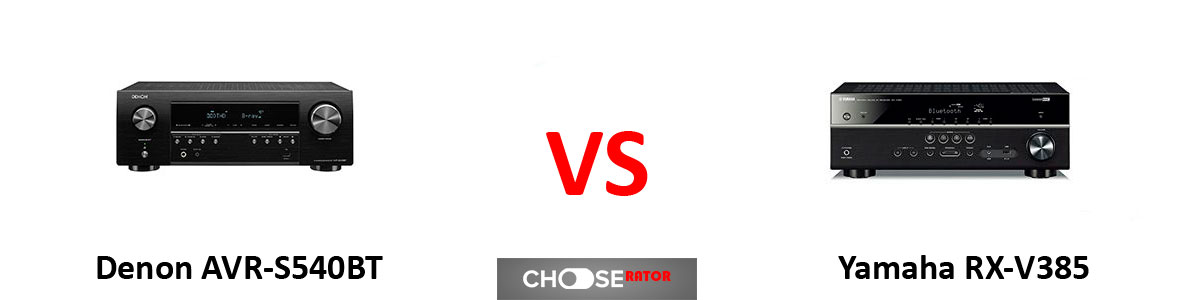 Denon AVR-S540BT vs Yamaha RX-V385