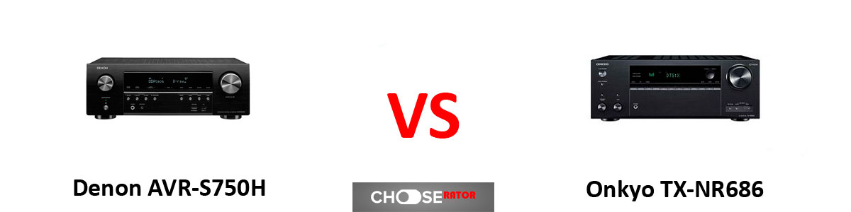 Denon AVR-S750H vs Onkyo TX-NR686