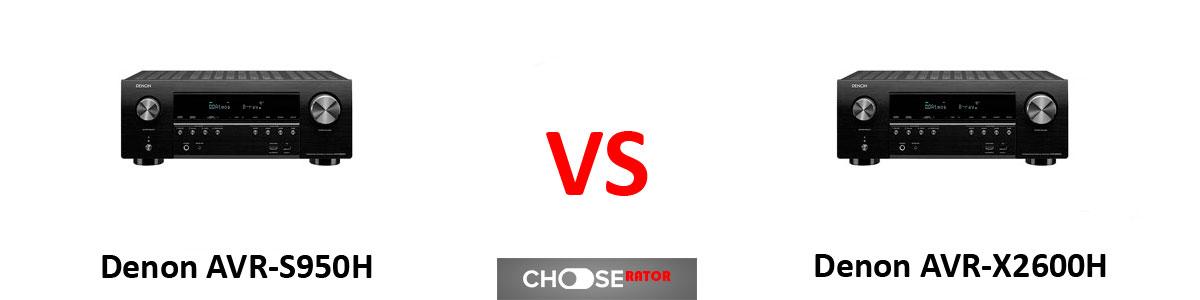 Denon AVR-S950H vs Denon AVR-X2600H