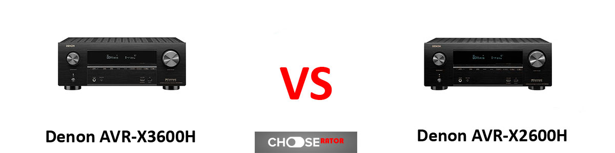 Denon AVR-X3600H vs Denon AVR-X2600H