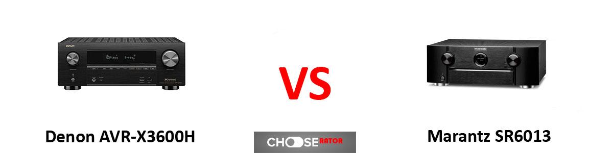 Denon AVR-X3600H vs Marantz SR6013