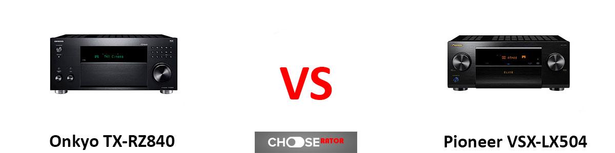 Onkyo TX-RZ840 vs Pioneer VSX-LX504