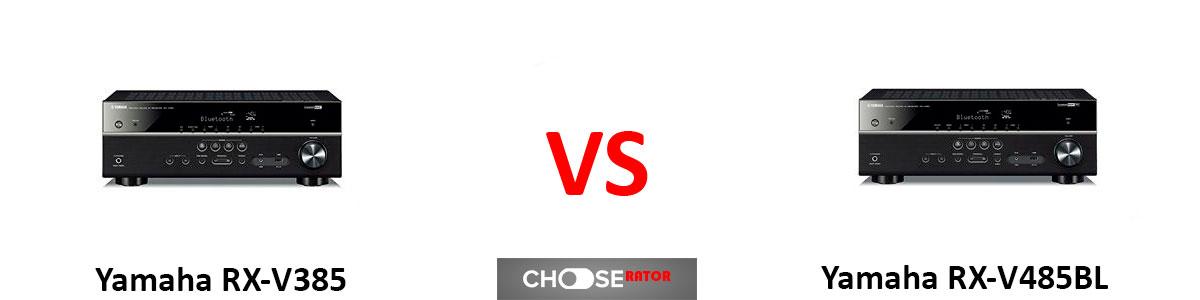 Yamaha RX-V385 vs Yamaha RX-V485BL