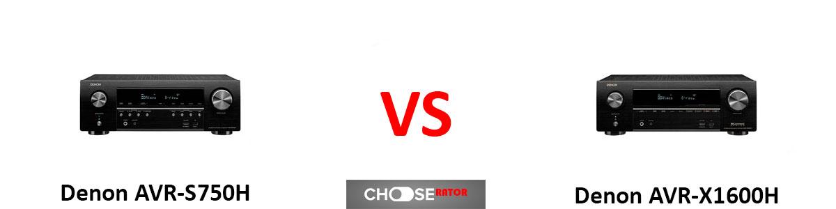Denon AVR-S750H vs Denon AVR-X1600H