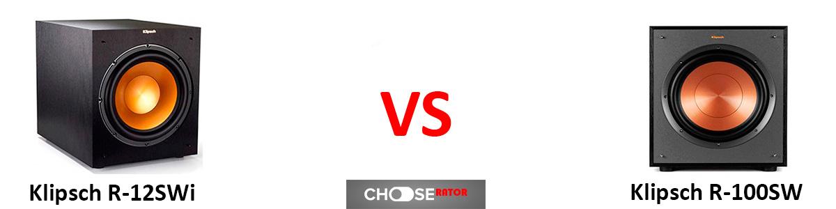 Klipsch R-12SWi vs Klipsch R-100SW
