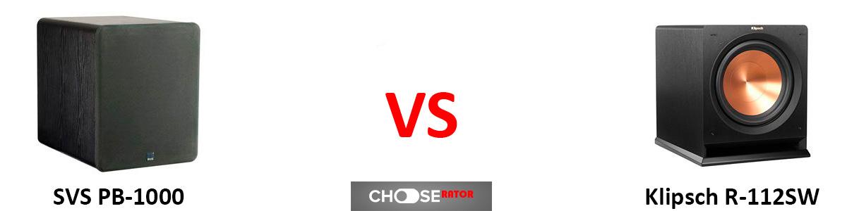 SVS PB-1000 vs Klipsch R-112SW