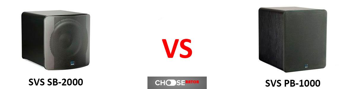 SVS SB-2000 vs SVS PB-1000